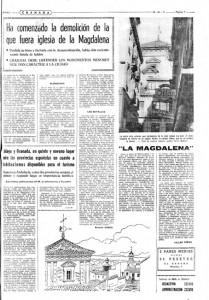 Descubriendo Granada demolición de la iglesia de la magdalena